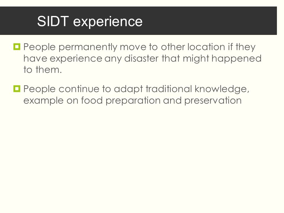  People permanently move to other location if they have experience any disaster that might happened to them.