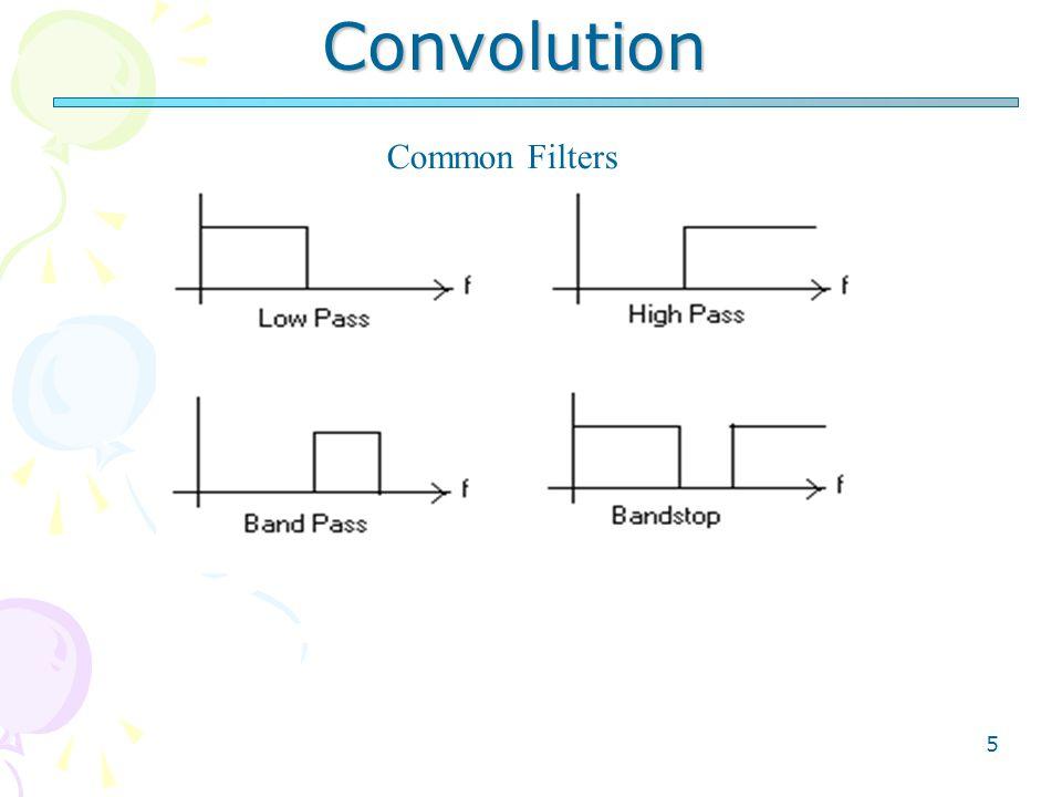 5 Convolution Common Filters