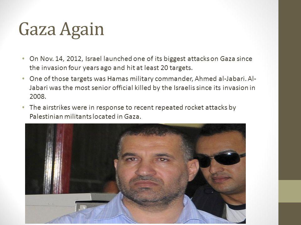 Gaza Again On Nov.