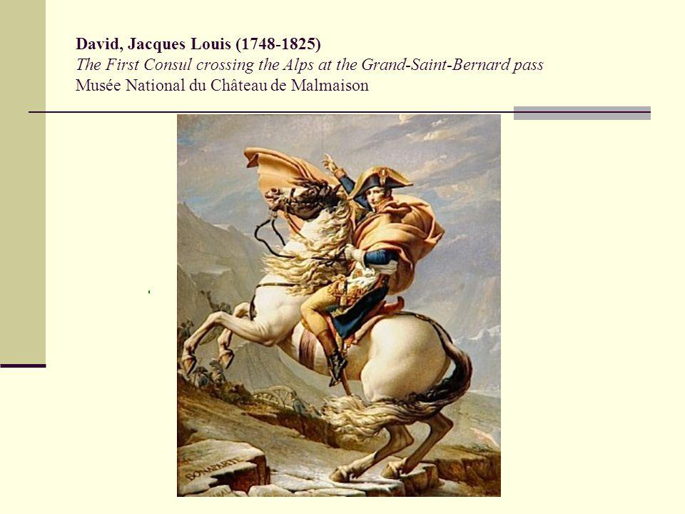 David, Jacques Louis (1748-1825) The First Consul crossing the Alps at the Grand-Saint-Bernard pass Musée National du Château de Malmaison