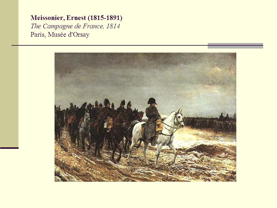 Meissonier, Ernest (1815-1891) The Campagne de France, 1814 Paris, Musée d'Orsay