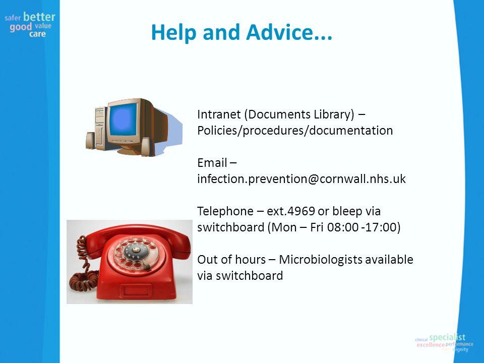 Help and Advice...