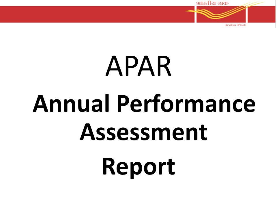 APAR Annual Performance Assessment Report