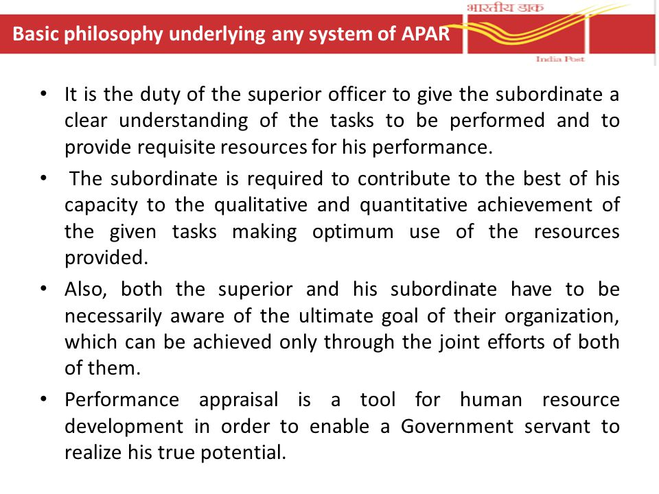 It is the duty of the superior officer to give the subordinate a clear understanding of the tasks to be performed and to provide requisite resources f