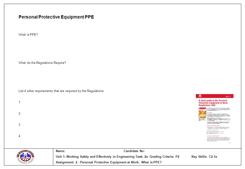 Name:Candidate No: Unit 1: Working Safely and Effectively in Engineering Task: 4b Grading Criteria: M2 Key Skills: Assignment: 4 - Proposals for Emergency Procedures - continuation sheet Proposal for change of D&T Department emergency procedures – continuation sheet