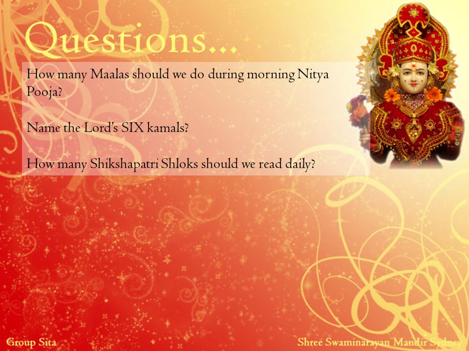 How many Maalas should we do during morning Nitya Pooja.