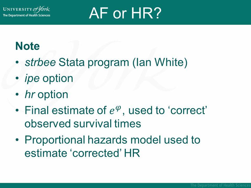 AF or HR