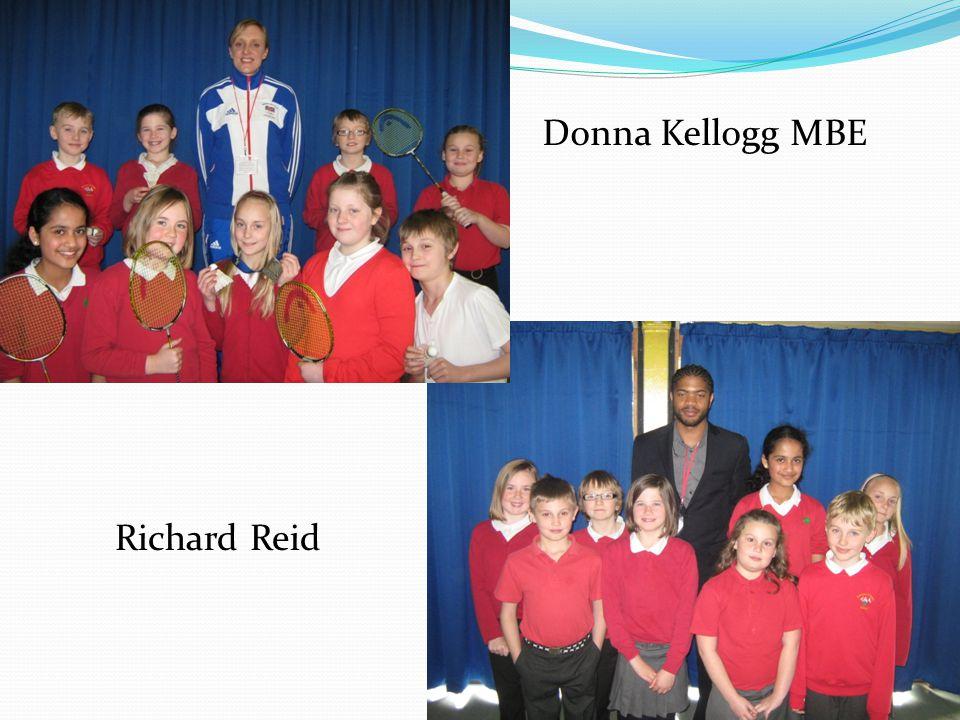 Donna Kellogg MBE Richard Reid