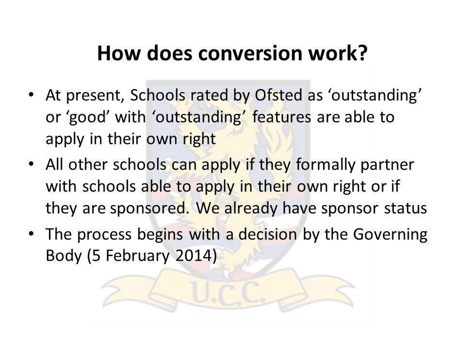 How does conversion work.