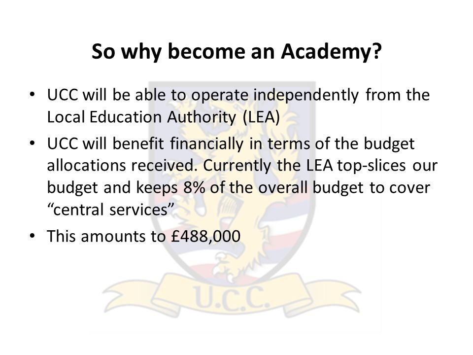So why become an Academy.