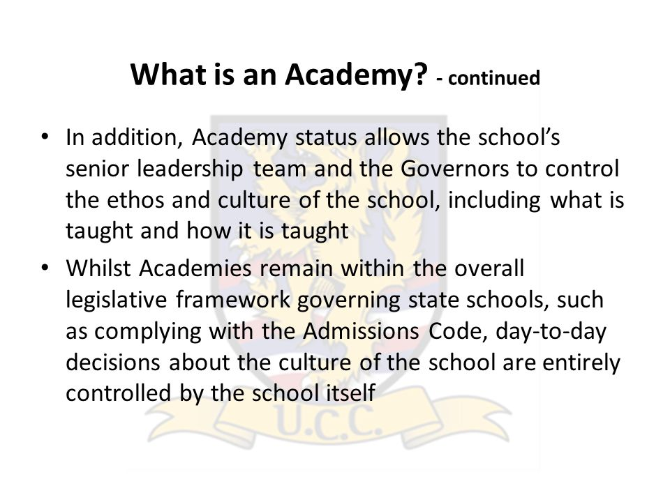 What is an Academy.