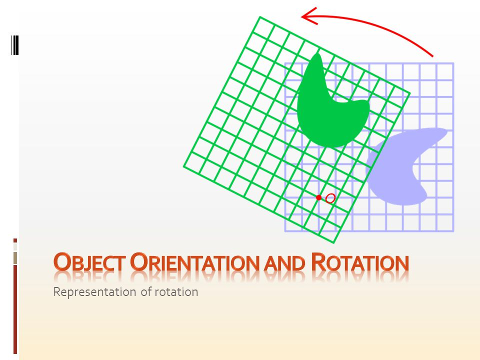 In two or three dimensions an object can be described as having a certain position (relative to some defined origin) and orientation (relative to some defined direction).