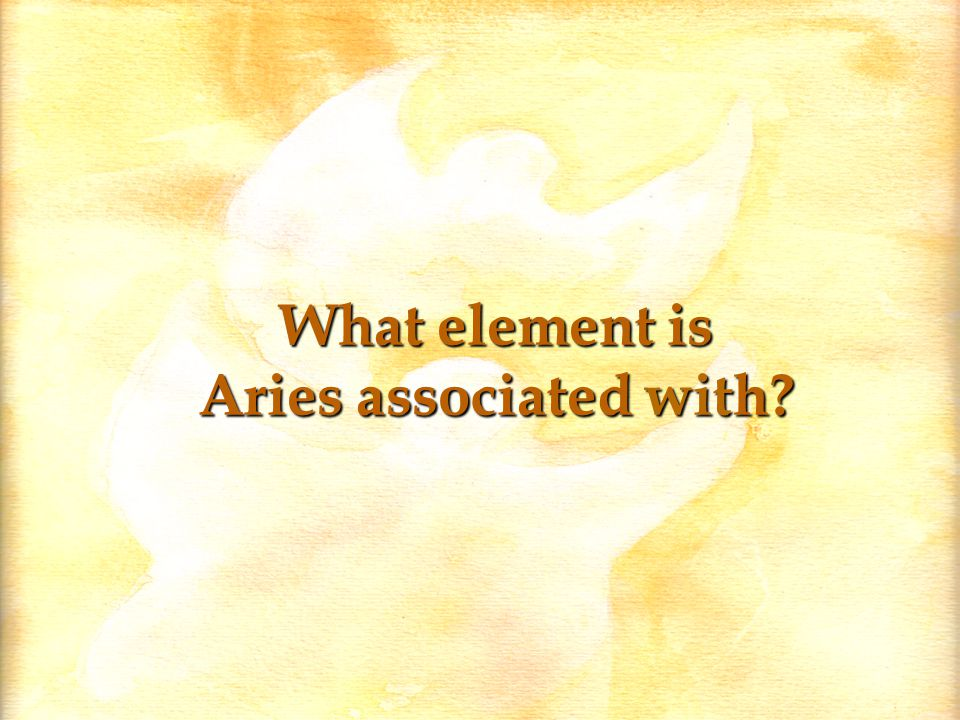 What element is Aries associated with?