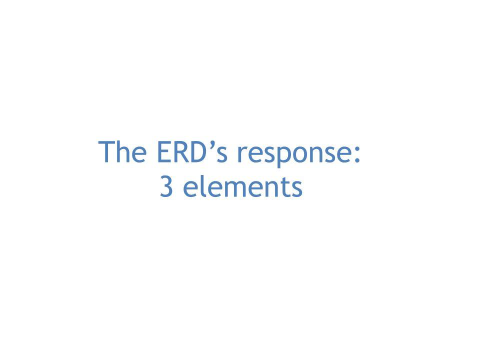 The ERD's response: 3 elements