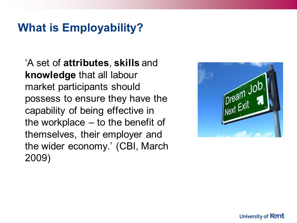 What is Employability.