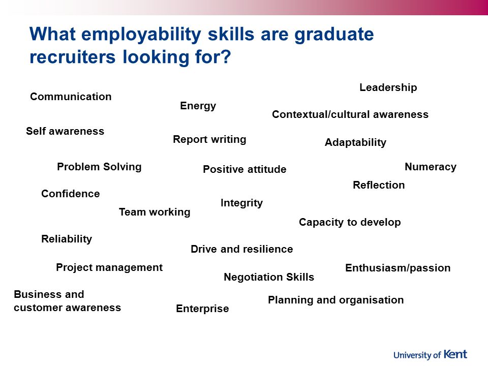 What employability skills are graduate recruiters looking for.