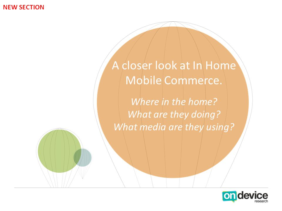 A closer look at In Home Mobile Commerce. Where in the home.