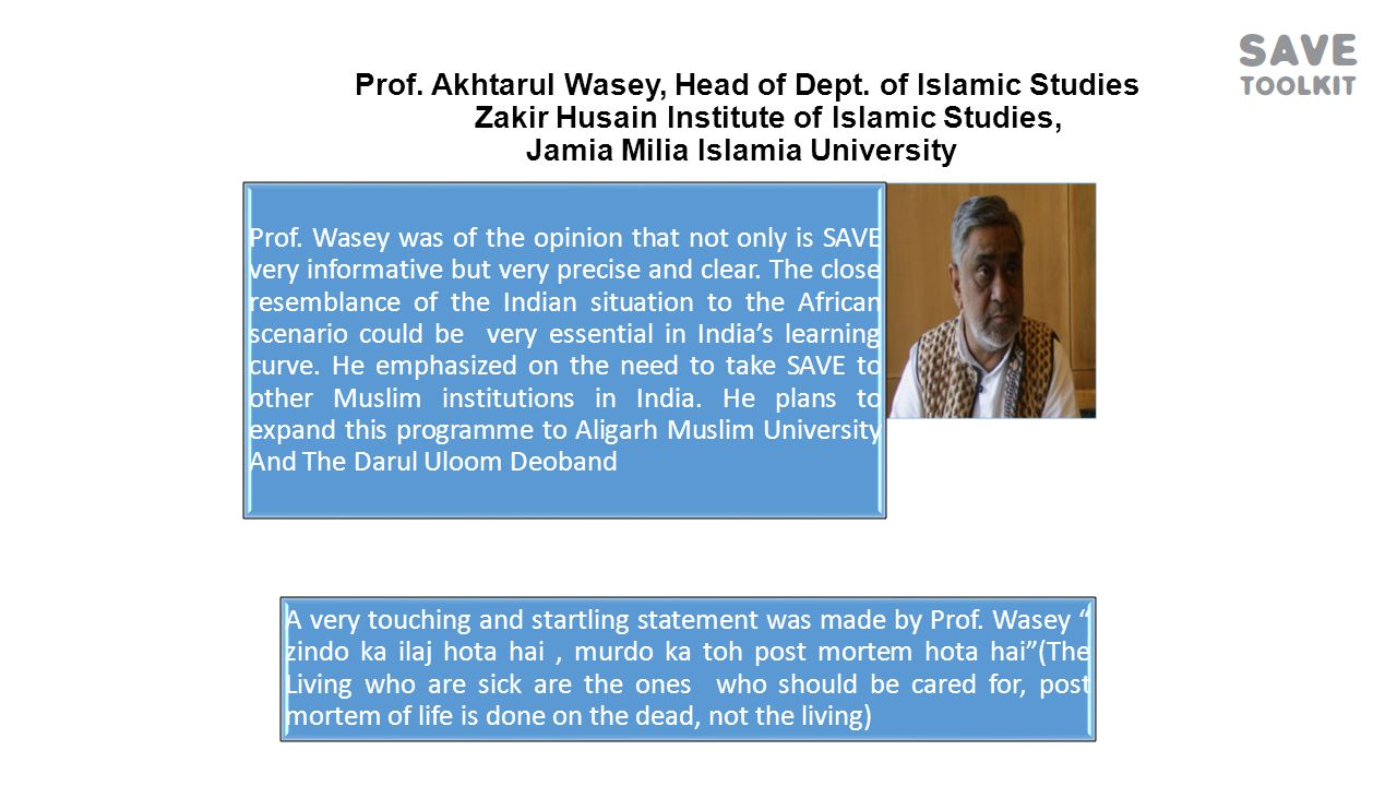 Prof.Akhtarul Wasey, Head of Dept.