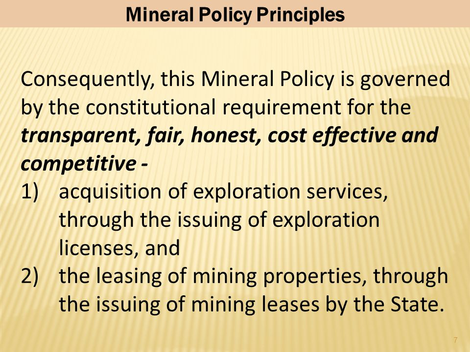 "6 In terms of procurement and other government contracts, including mineral leases, the new Constitution stipulates that:  ""An Act of Parliament must"