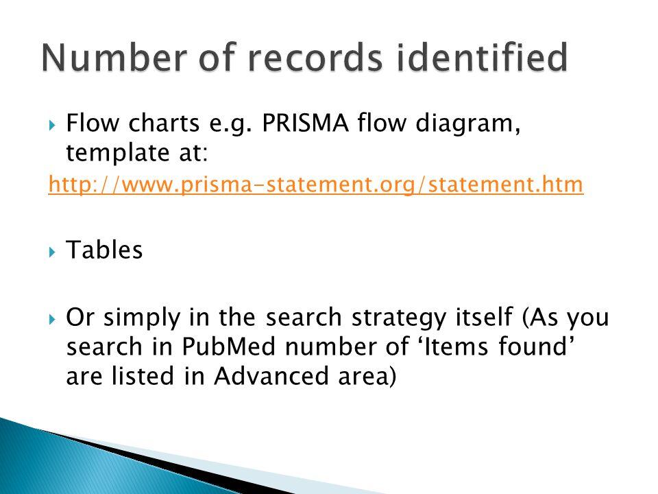  Flow charts e.g.