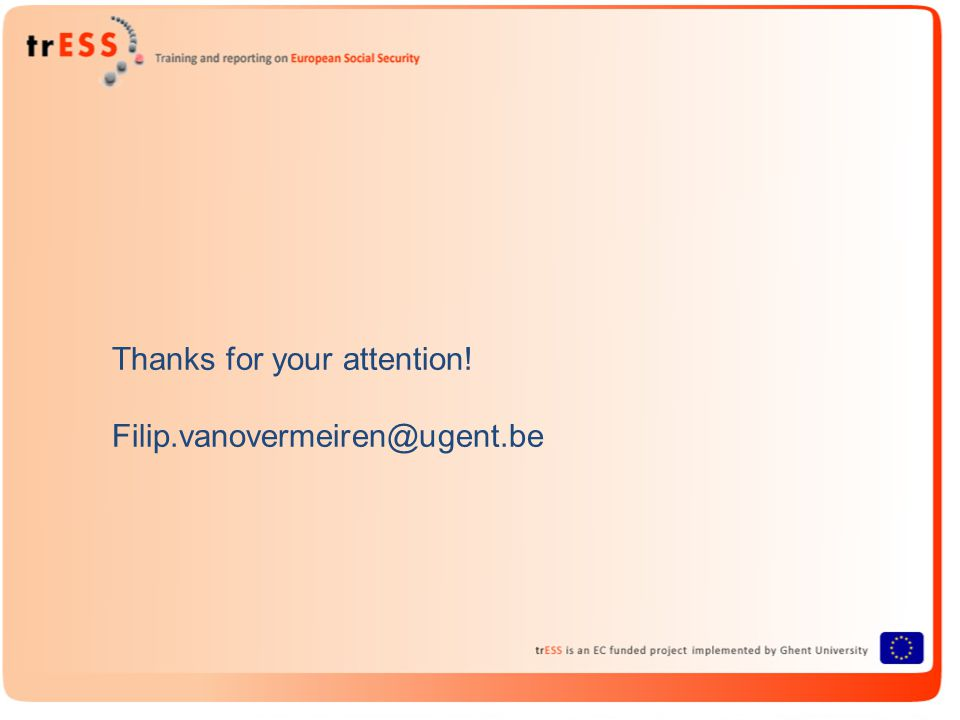Thanks for your attention! Filip.vanovermeiren@ugent.be