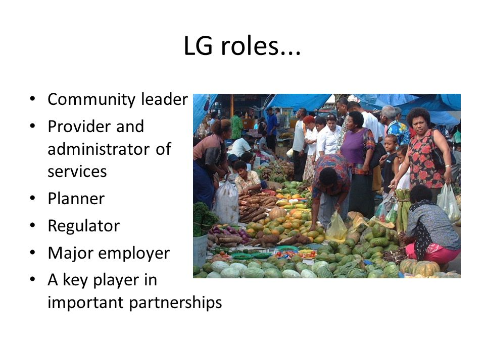 LG roles...