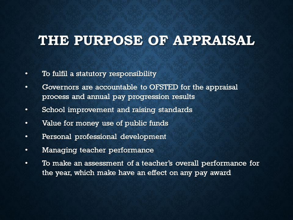 HOW DOES THIS AFFECT TEACHER APPRAISAL.