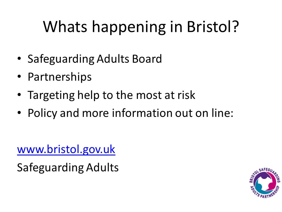 Whats happening in Bristol.