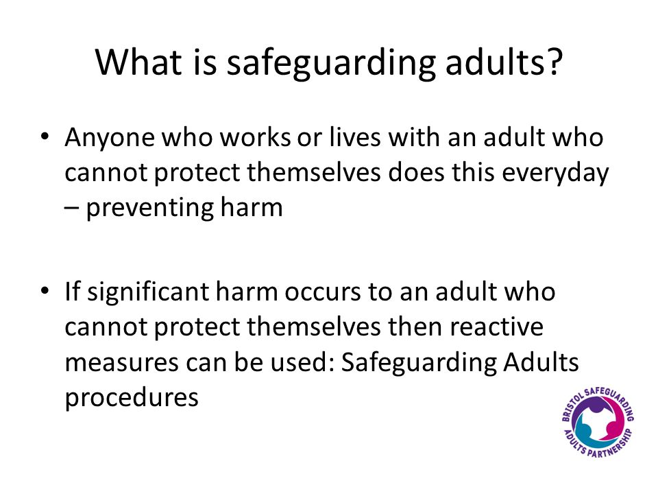 What is safeguarding adults.