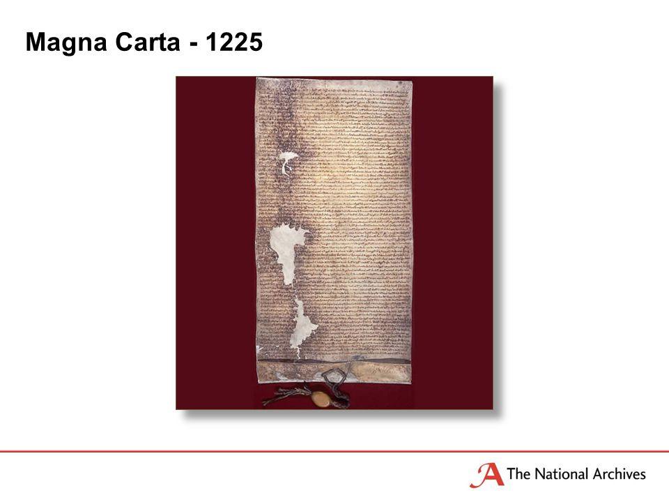 Magna Carta - 1225