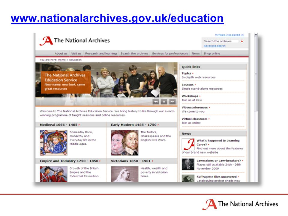 www.nationalarchives.gov.uk/education