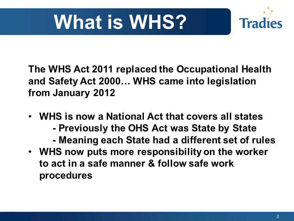 3 Understanding WHS Legislation Definitions Workers: includes employees, labor hire staff, volunteers, apprentices, subcontractors and contractors.