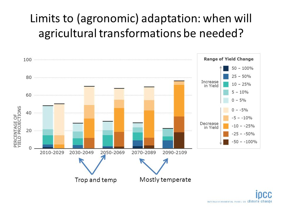 Changes in the stability of food supply Challinor et al.