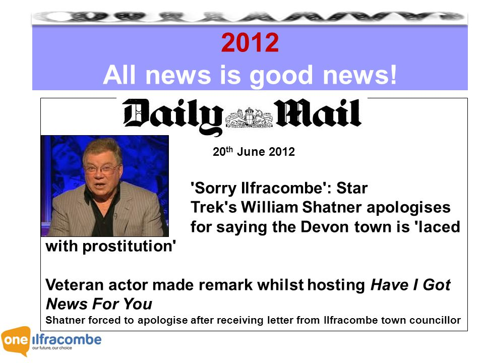 2012 All news is good news.