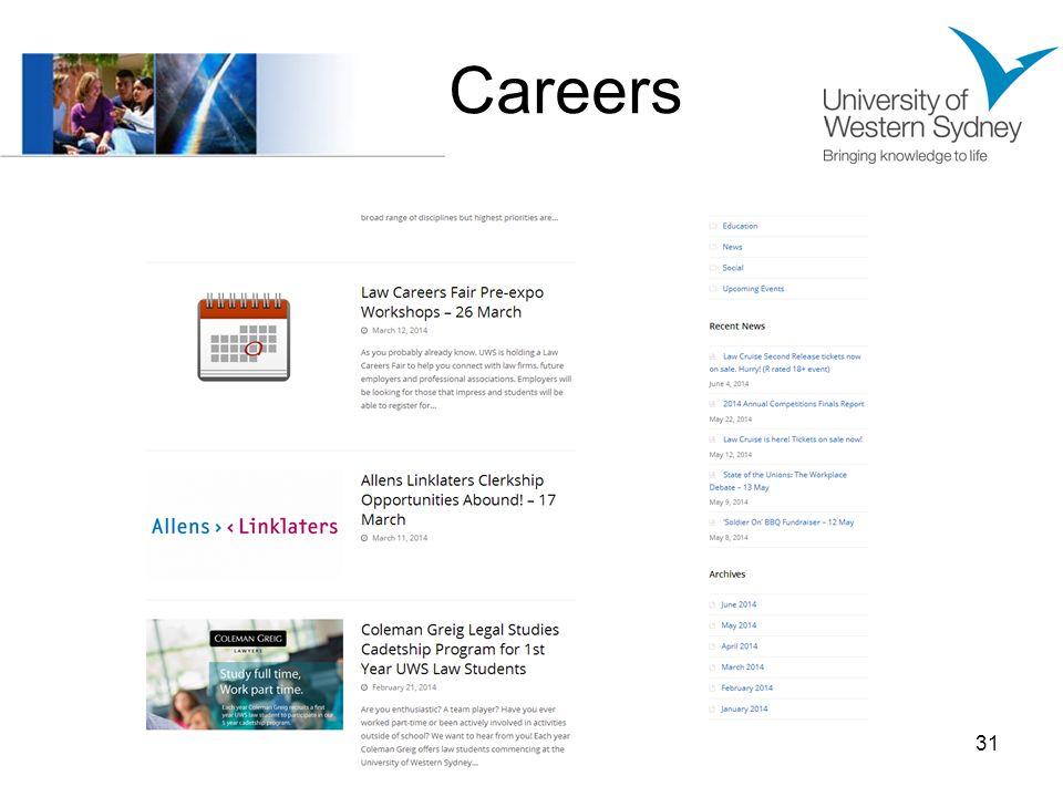 Careers 31