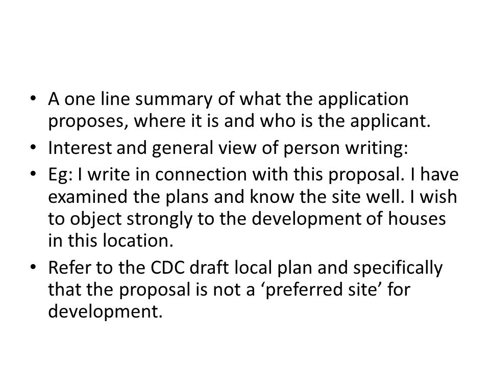 Refer to the Parish Council Local Land Development Position Statement.