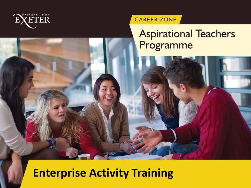 Interactive scenario activity to encourage pupils to use, develop and evaluate their enterprise skills Delivered in a team (number per team dependent number students allocated per school) Delivered once during the 5 day placement The session will last for approx.