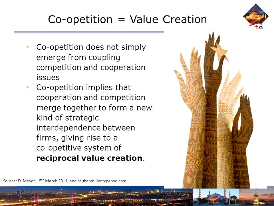 Co-opetition = Value Creation 16 Source: D.