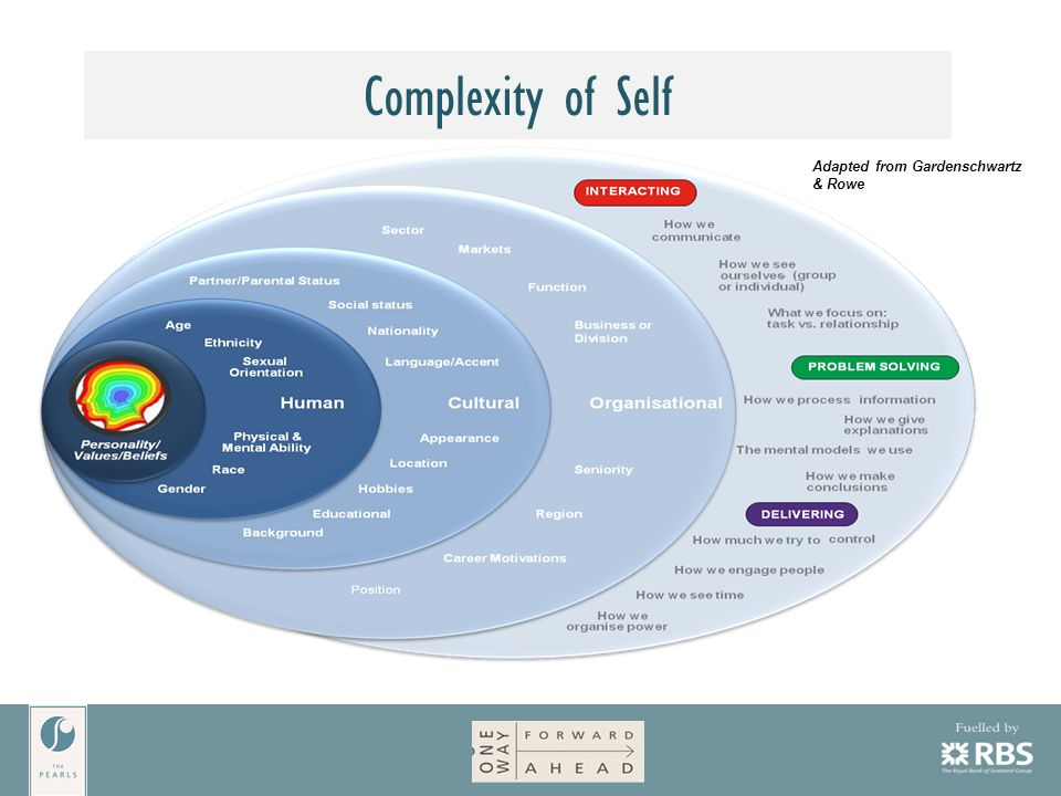 Adapted from Gardenschwartz & Rowe Complexity of Self