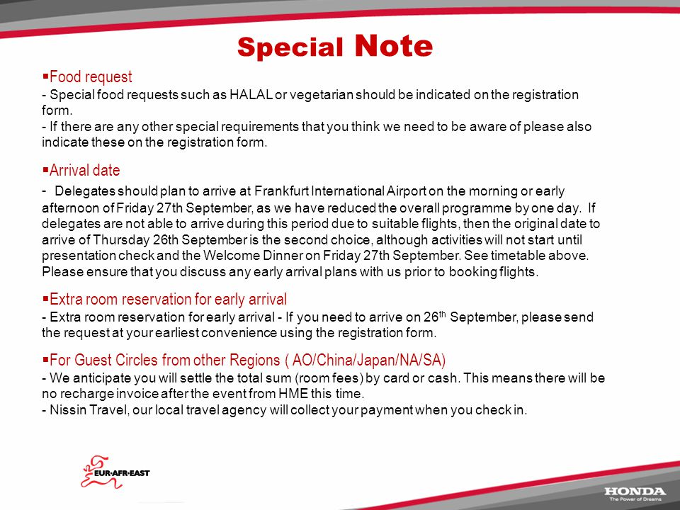 Expenses - Hotel room charges will be invoiced by HME post event.