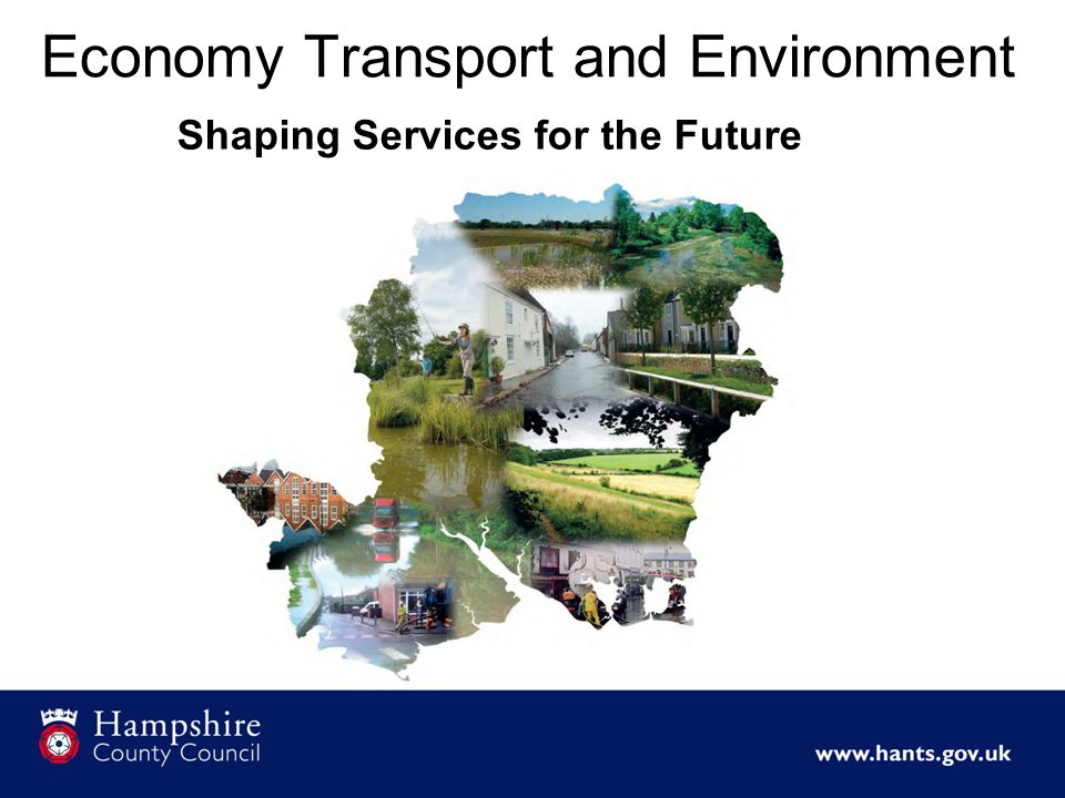 Economy Transport and Environment Shaping Services for the Future