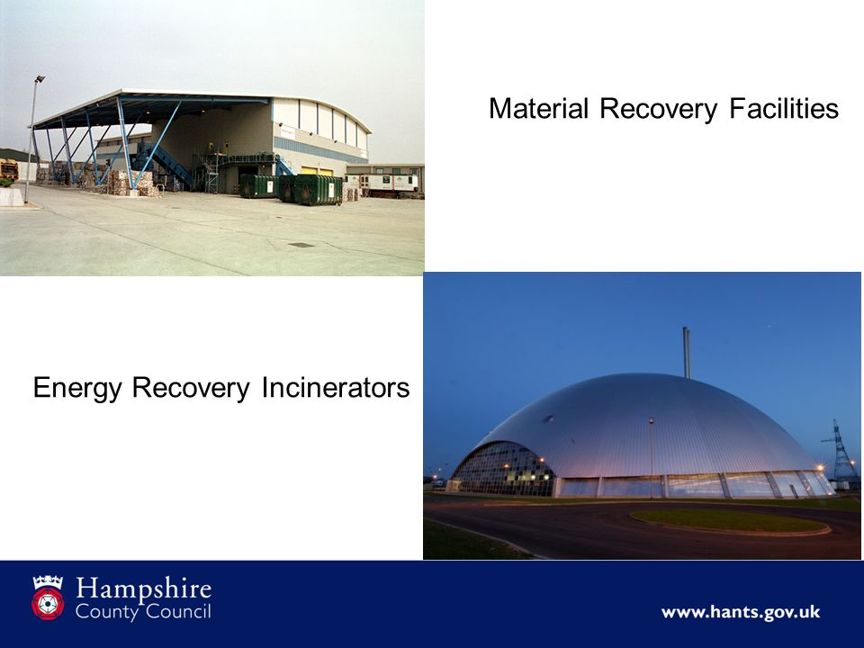 Material Recovery Facilities Energy Recovery Incinerators