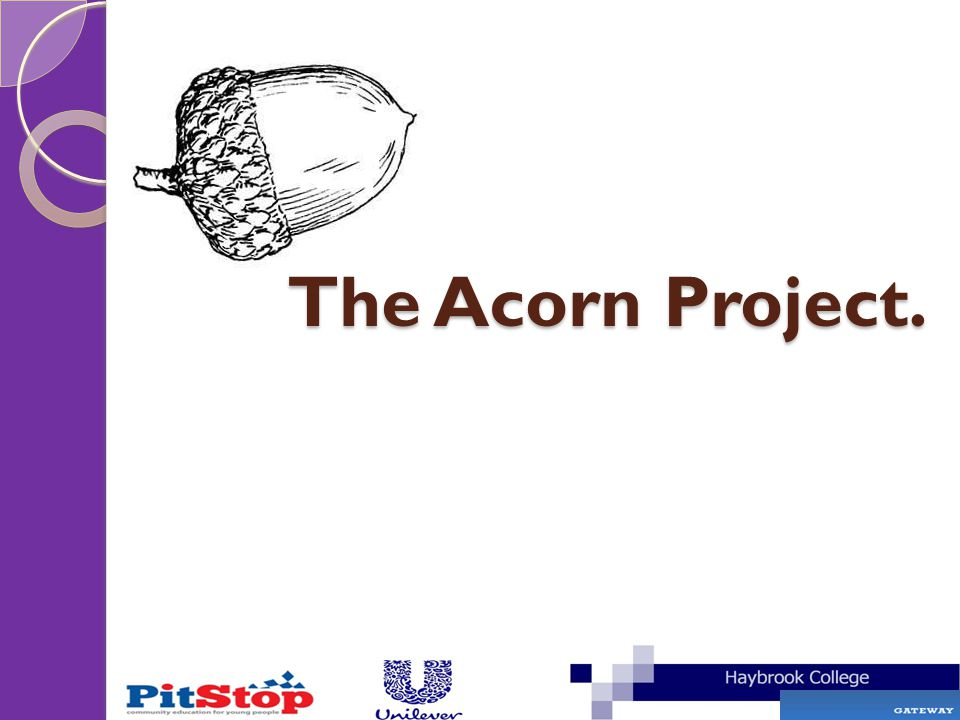 The Acorn Project.
