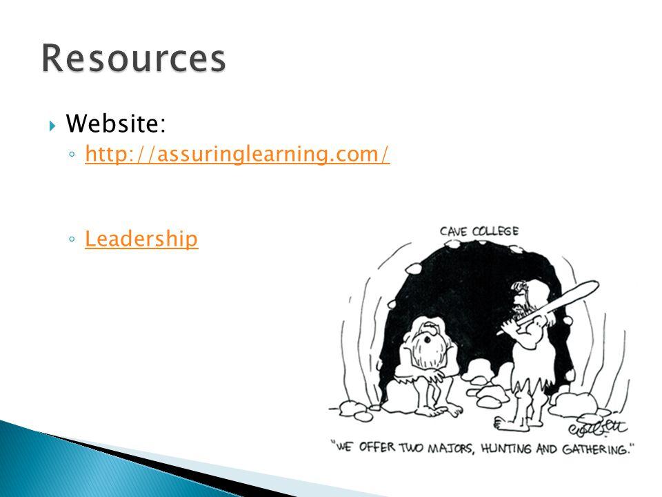  Website: ◦ http://assuringlearning.com/ http://assuringlearning.com/ ◦ Leadership Leadership