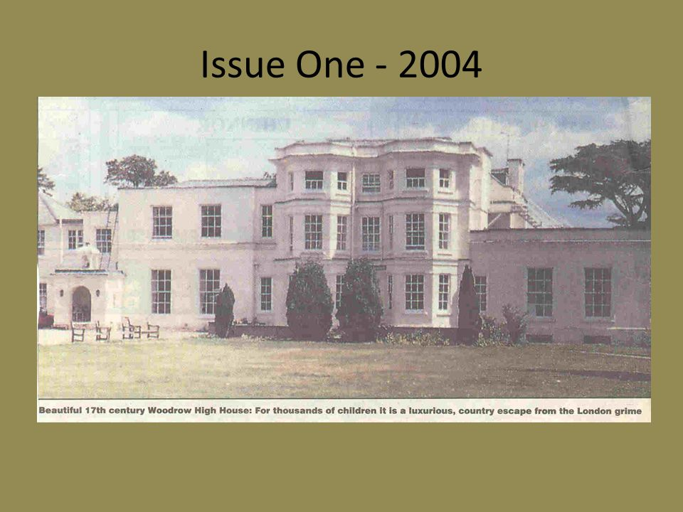 Issue Three - 2006 How proud I used to be when sending out those personalised Christmas cards from Woodrow High House.