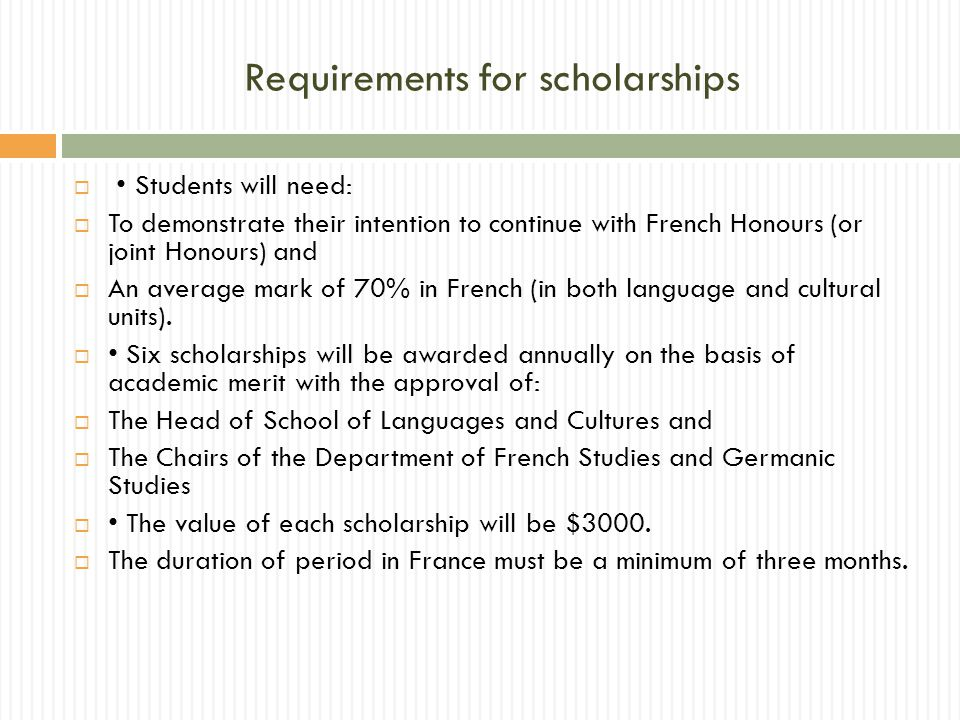 Exchange as a foundation for Honours  Spending a semester or 2 at a Francophone university is an excellent way to improve your written and spoken French in preparation for Honours  Whilst on exchange, you might discover a passion for a particular theme that could become the topic of your Honours thesis; you could start gathering documentation whilst overseas.