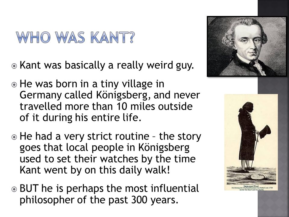  Kant's principle of treating everyone as an end in themselves encourages respect for all persons.