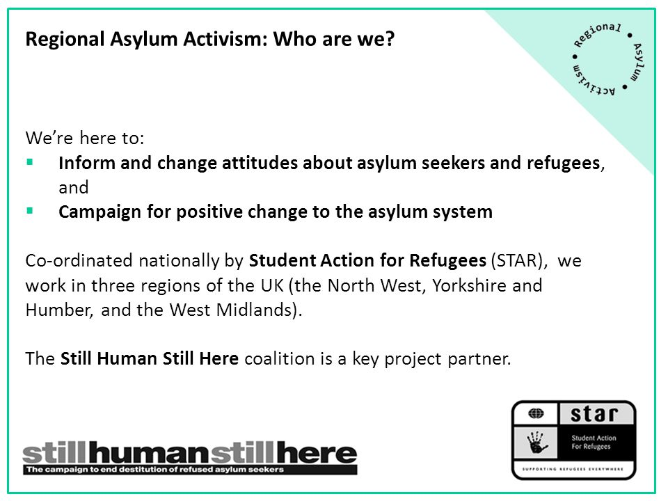There are a number of points in the asylum process where people seeking asylum can fall destitute…  Before making their initial claim for asylum.