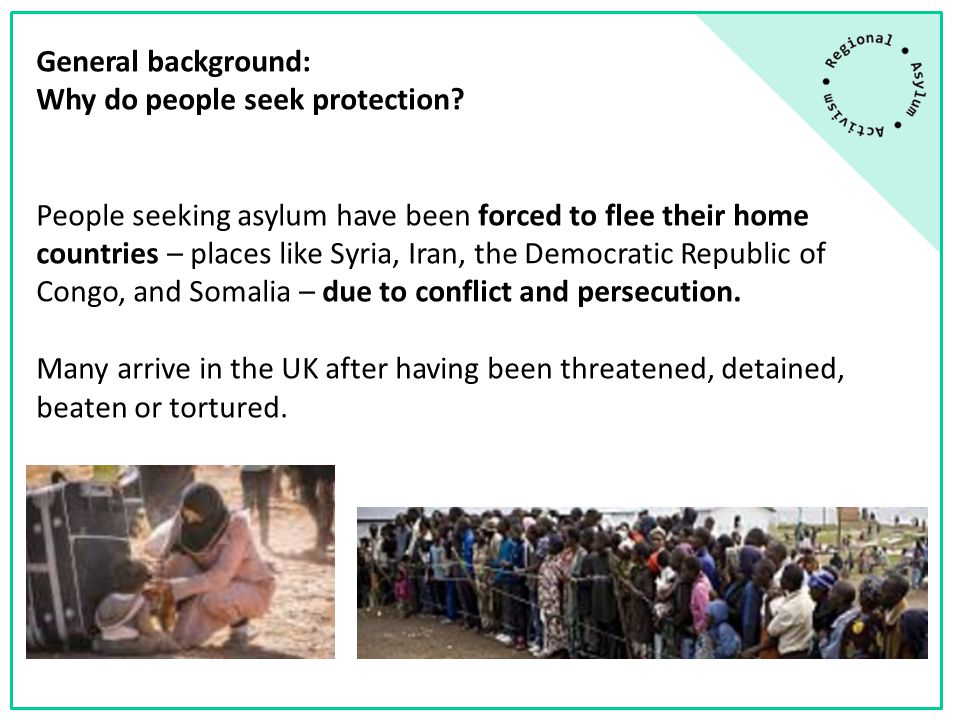 General background: Why do people seek protection.