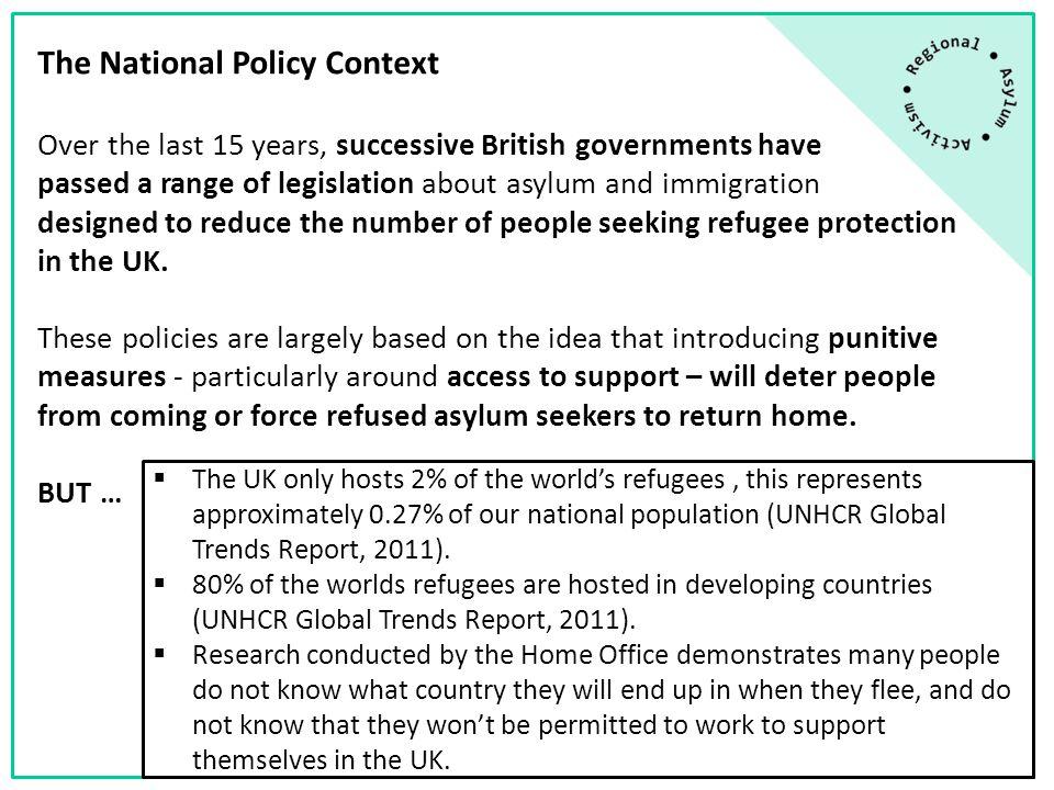 Poverty of People Seeking Asylum:  Asylum support rates  Destitution